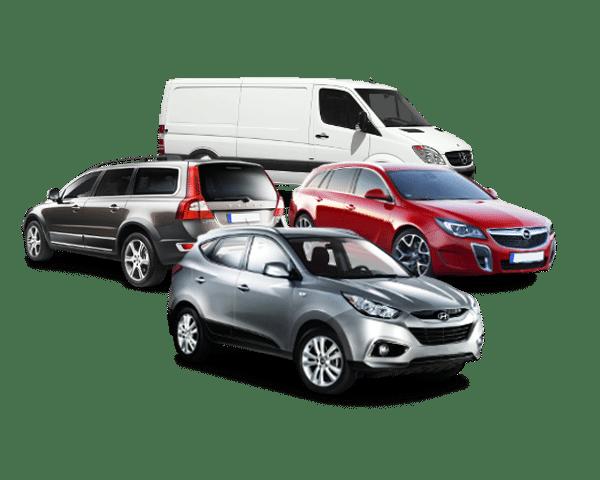 Bild mit vier Autos