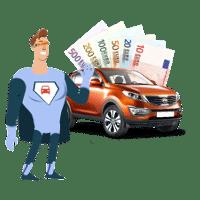 Auto verkaufen Geld und Auto