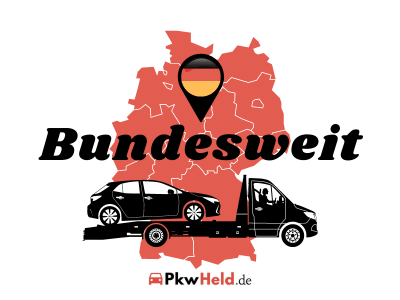 Autoankauf Deutschland karte mit Abschleppwagen